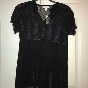 NWT Dress barn lace sheer blouse with cami